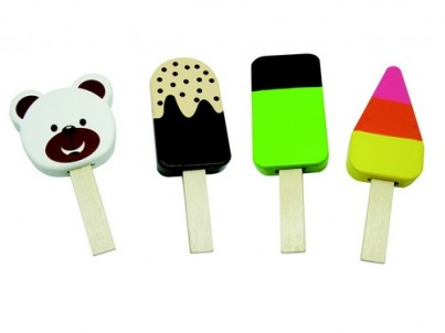 Four Scrumptious Wooden Lollies