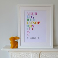 Modern Alphabet Print - Now I Know My ABCs