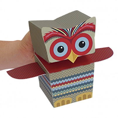 Create your own Owl Family Puppets