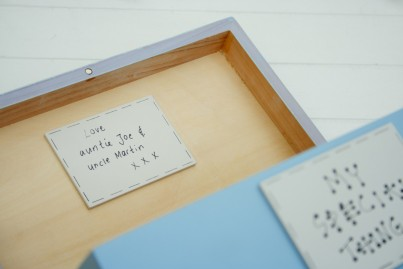 Plaque inside the lid added for your own message to be added by you (if required)