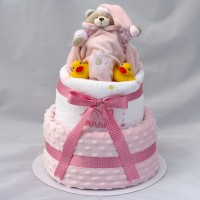 Luxury Bubbles & Cuddles Baby Girl, boy or neutral 3 Tier Nappy Cake