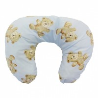 Multi Purpose Nursery & Feeding Cushion - VINTAGE TEDDY BLUE - retro
