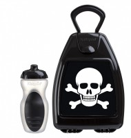 Black lunchbox with skull