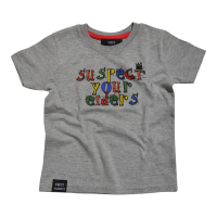 'Suspect your Elders' kids T Shirt