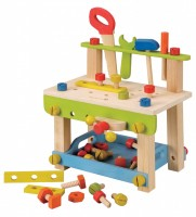 EverEarth Work Bench with tools Natural Wood Toy