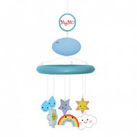 MyMo: Baby mobile with MP3 player and voice recorder (Blue with weather theme)
