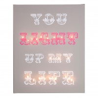 You Light Up My Life - Illuminated Canvas Night Light