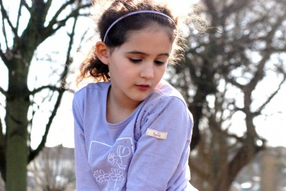 Long Sleeved Lilac Pixie T-shirt with Sparkles