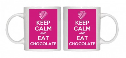 Copy of Keep Calm and Eat Chocolate Mug Personalised With Your Own Text If Preferred