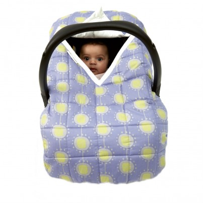 Travel Cover Blue Funky Flower Cosy Car Seat Cover for Group 0 infant car seat