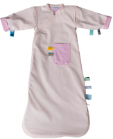 Sleepsuit girl 3-9 months, detachable sleeve Blossom Pink