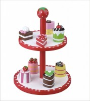 Strawberry Design - Cake Stand With Eight Delicious Cakes