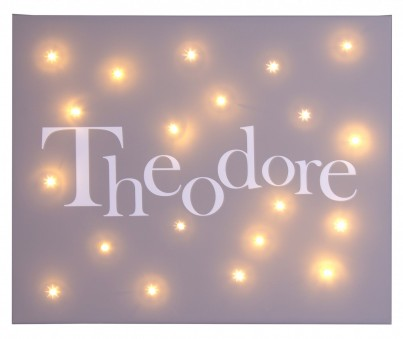 Personalised Name Illuminated Canvas