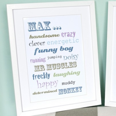 Our bespoke Word Art