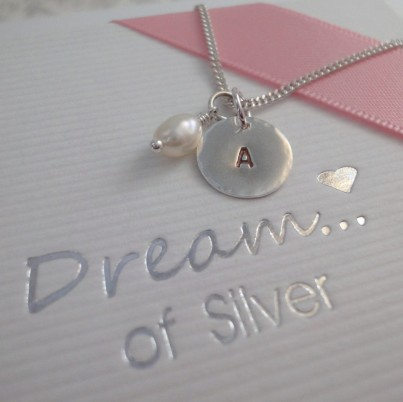 Personalised Childrens Initial & Pearl Necklace