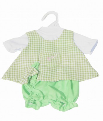 Green Dress, Trousers and T-Shirt Set