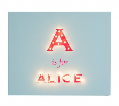 Alphabet - Modern Personalised Illuminated Canvas Night Light