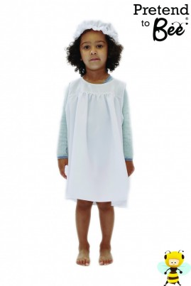 """Velcro Back-Fastened Pinafore Dress with lace-trimmed Mop Hat.   Perfect for School """"History Days""""!"""
