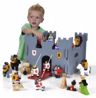 Wooden Medieval Castle & Figure Set - Wooden Toy