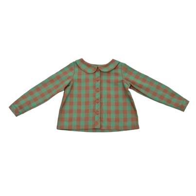 GIRLS PETER PAN BLOUSE IN GREEN