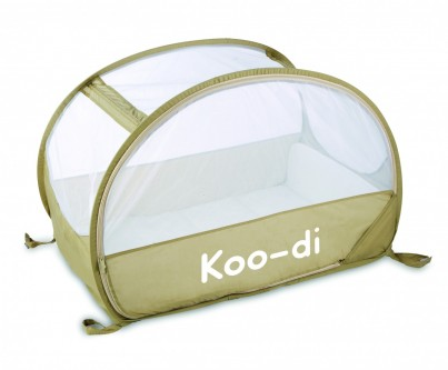 POP UP TRAVEL BUBBLE COT - CAFE CREME