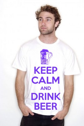 Keep Calm and Drink Beer Adult T Shirts Personalised If Required