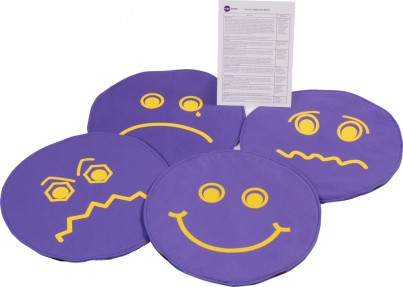 Set of 4 visually distinctive mats featuring easily recognisable emotions. Supplied with A5 Activity Card