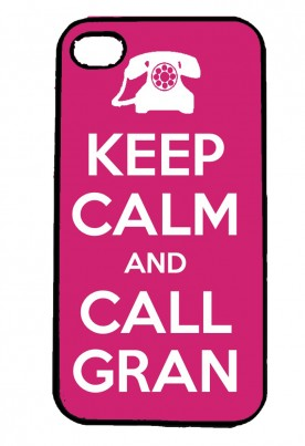 Keep Calm and Call Gran Personalised IPhone Case Will Fit iPhone 4, 4s & 5