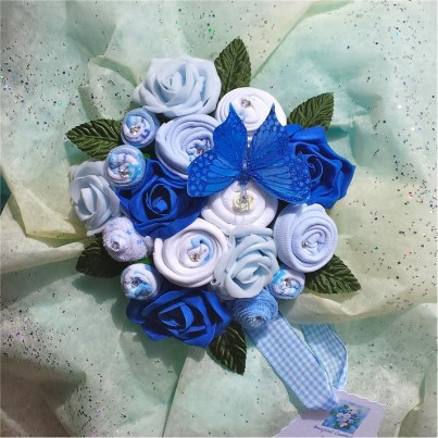 Blue Sensation Baby Boy Bouquet