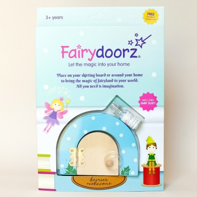 Sky Blue Dotty fairy door & fairy dust gift set