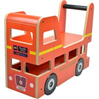 Kiddimoto London Bus - Wooden Toddler Ride-On