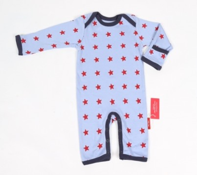 Sleepy Stars Blue Organic Cotton Sleepsuit