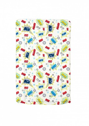 SUPER HERO  themed changing mat -  BLUE / BOY