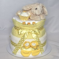 Easter/Spring Bunny Nappy Cake in Yellow, Pink or Blue