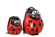Polka the Ladybird Cutie hard trolley case and back pack set from the Cuties and Pals