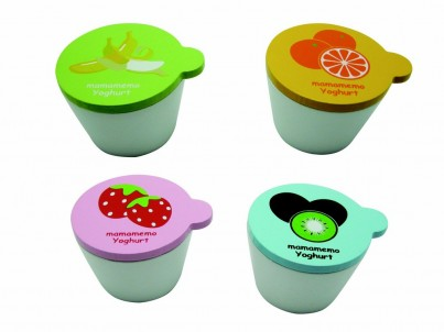 Wooden Play Food - Yogurt (4 pieces)