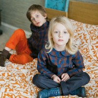 BOYS TROUSERS IN ORANGE