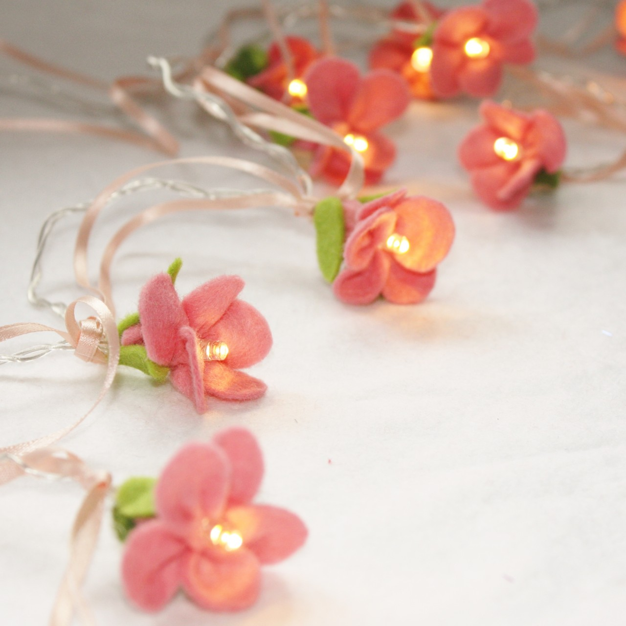 Rose Fairy Lights By Button Owl