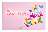 Butterflies - Pink -Personalised Illuminated Canvas