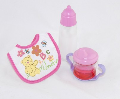 Dolls 3 Piece Drinking Set