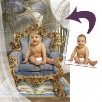 'Royal Baby': Personalised Fantasy Photo Portrait