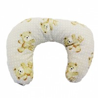 Multi Purpose Nursery & Feeding Cushion - VINTAGE TEDDY BEIGE - retro