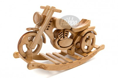 Hibba All Terrain Wooden Rocking & Ride on Bike