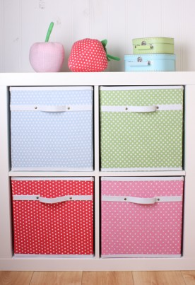 Babyface Pink Dotty Storage Box