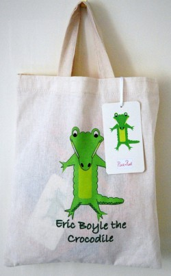 Long Sleeved Boys T-Shirt with Pocket Crocodile and a Cotton Bag