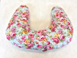 Multi Purpose Nursery & Feeding Cushion - Vintage Bouquet - Pink & Blue for a girl - ideal baby shower gift