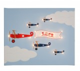 Bi-Planes Personalised Illuminated Canvas