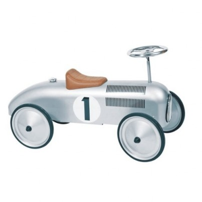 Classic Silver Racer Ride On