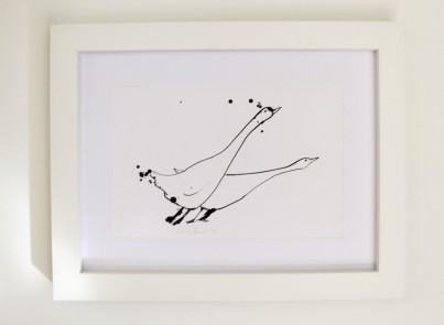 'Goosey Goosey' Open Edition Print by Samantha Barnes.  Signed & Titled