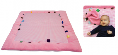 Playing Cloth - Cheerful Playing (85x105cm) Elephant Pink